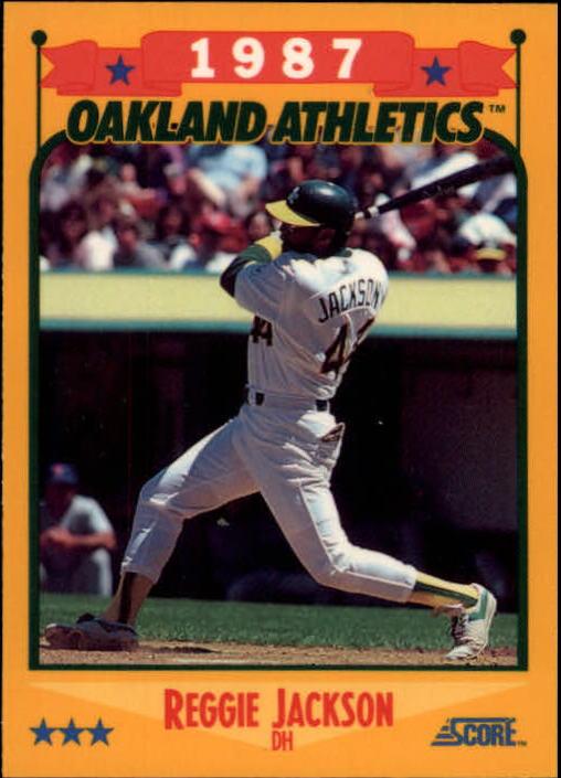 1988 Score Glossy #504 Reggie Jackson/(Oakland A's)