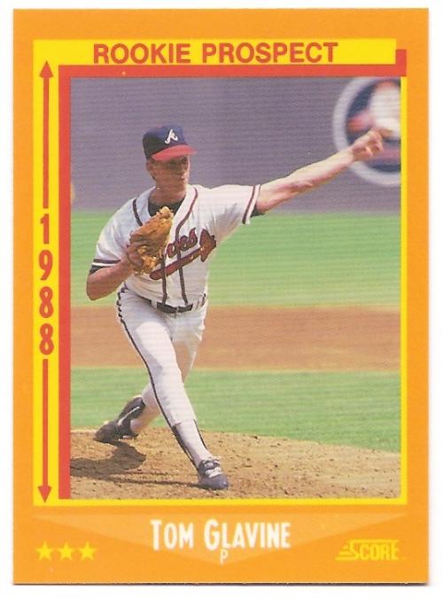 1988 Score Glossy #638 Tom Glavine