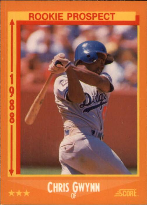 1988 Score Glossy #640 Chris Gwynn UER