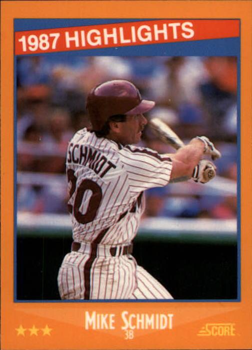 1988 Score Glossy #657 Mike Schmidt HL