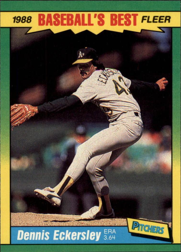 1988 Fleer Sluggers/Pitchers #13 Dennis Eckersley