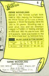 1988 Pacific Legends I #5 Gene Woodling back image