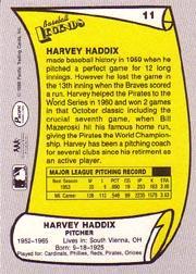 1988 Pacific Legends I #11 Harvey Haddix back image