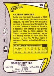 1988 Pacific Legends I #16 Catfish Hunter back image