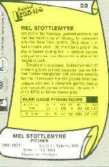 1988 Pacific Legends I #22B Mel Stottlemyre COR back image