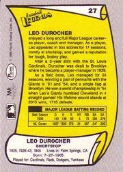 1988 Pacific Legends I #27 Leo Durocher back image
