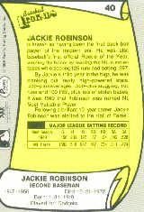 1988 Pacific Legends I #40 Jackie Robinson back image
