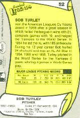 1988 Pacific Legends I #52 Bob Turley back image