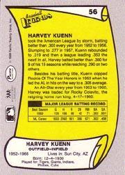 1988 Pacific Legends I #56 Harvey Kuenn back image