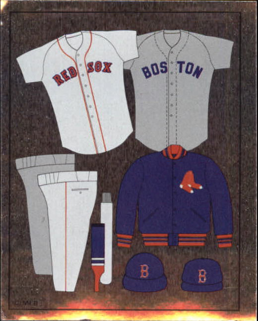 1988 Panini Stickers #19 Red Sox Uniform