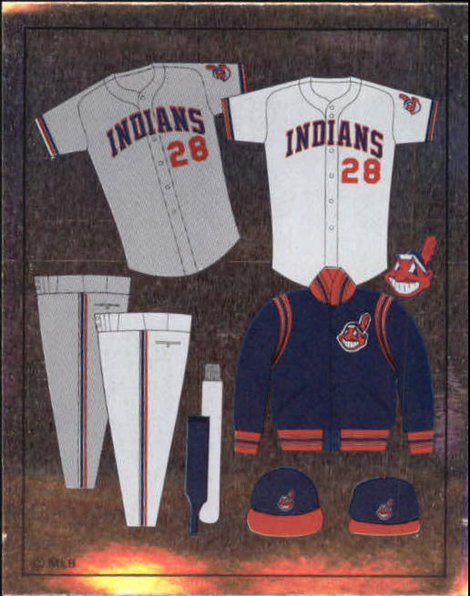 1988 Panini Stickers #67 Indians Uniform