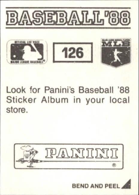 1988 Panini Stickers #126 Dale Sveum back image