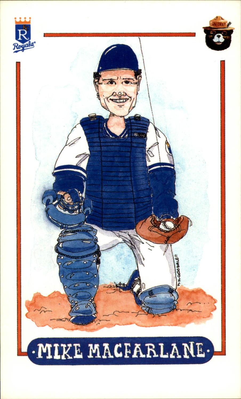 1988 Royals Smokey #17 Mike Macfarlane
