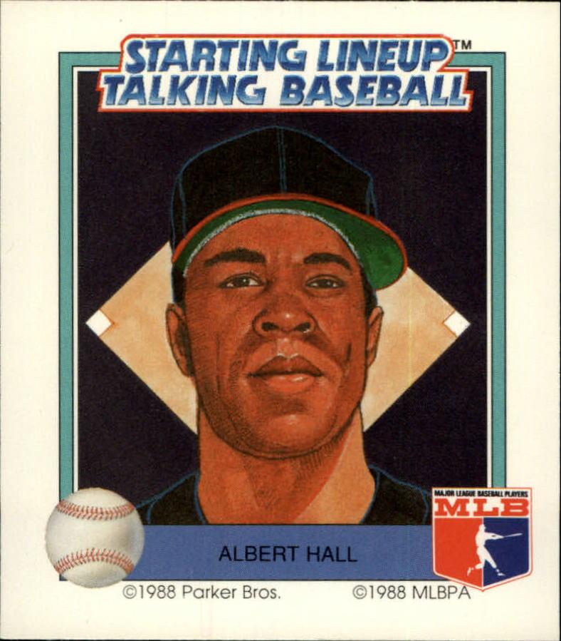 1988 Starting Lineup Braves #8 Albert Hall