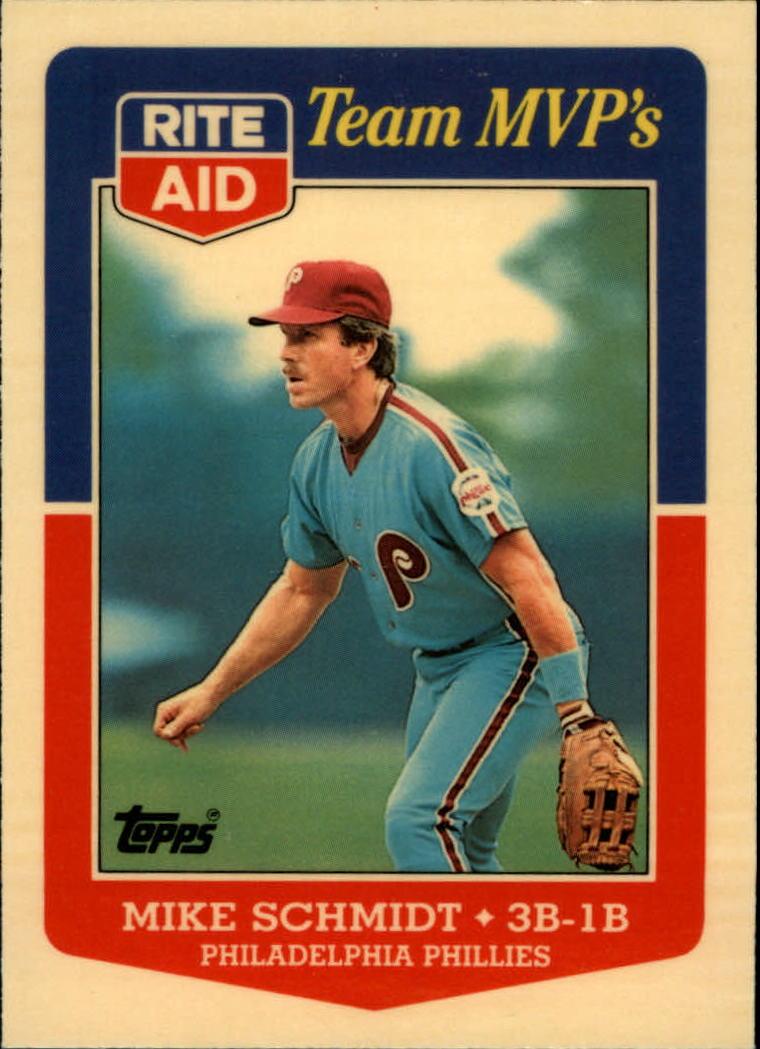 1988 Topps Rite-Aid Team MVP's #8 Mike Schmidt