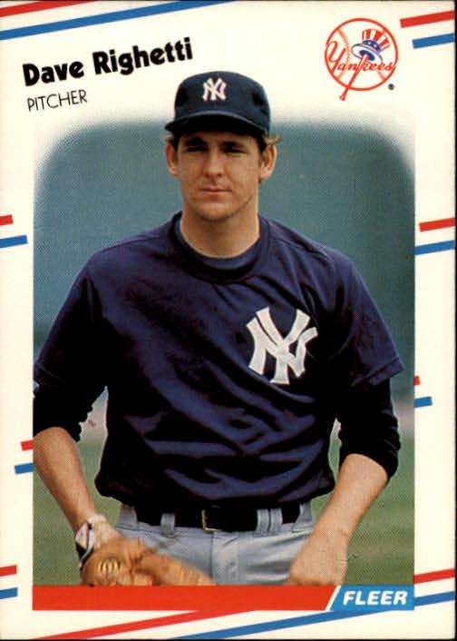 1988 Fleer #220 Dave Righetti