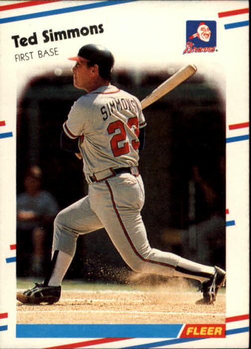 1988 Fleer #549 Ted Simmons
