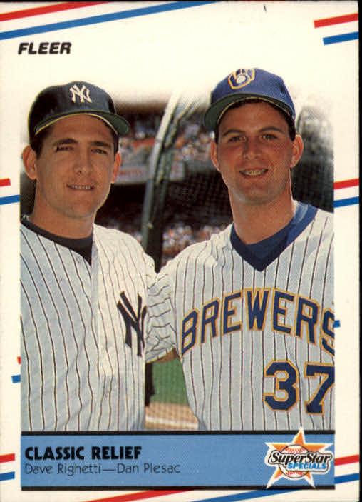 1988 Fleer #625 Dave Righetti/Dan Plesac