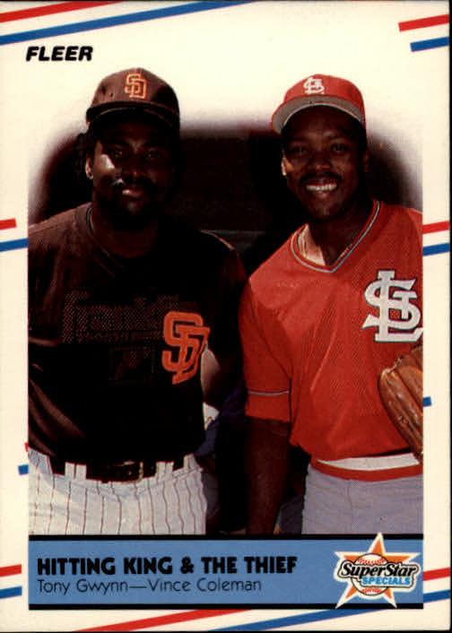 1988 Fleer #634 Tony Gwynn/Vince Coleman