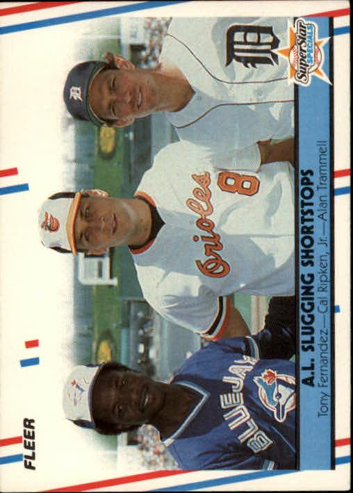 1988 Fleer #635 Tony Fernandez/Cal Ripken/Alan Trammell