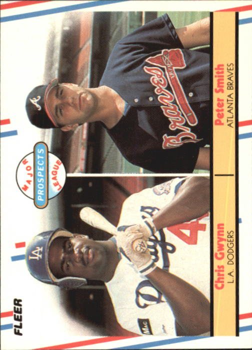 1988 Fleer Glossy #647 Pete Smith/Chris Gwynn