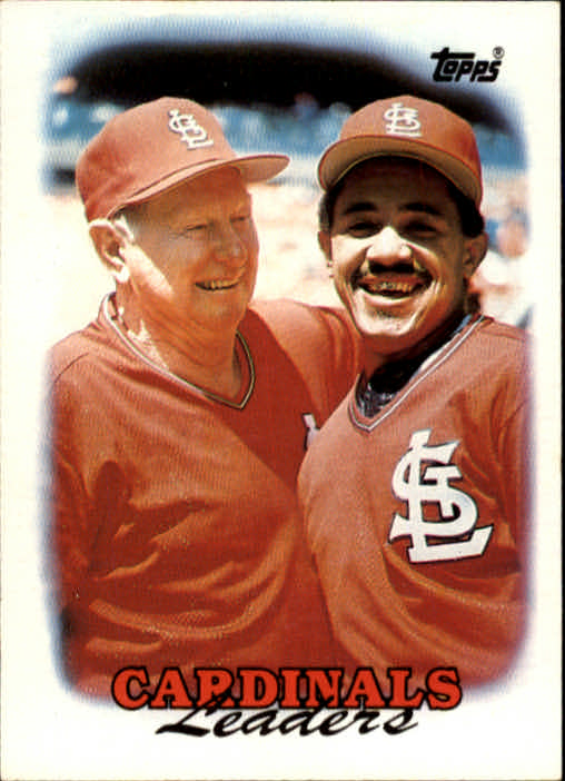 1988 Topps #351 Red Schoendienst CO/Tony Pena TL