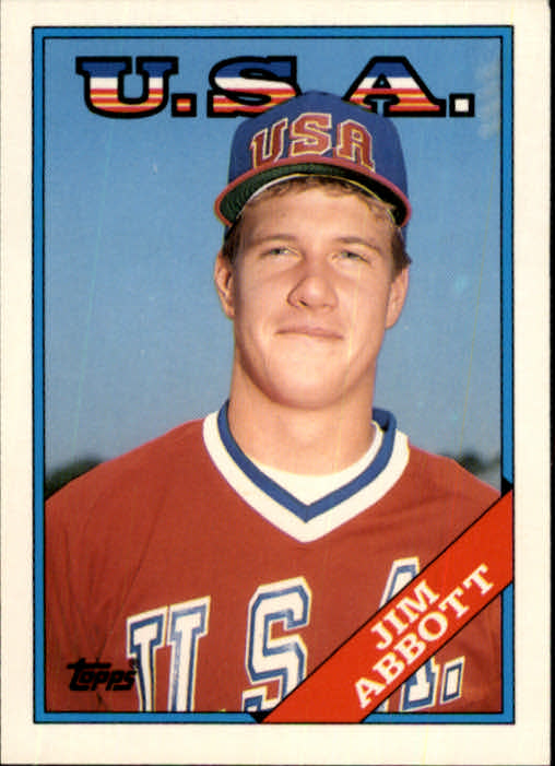 1988 Topps Traded #1T Jim Abbott OLY XRC