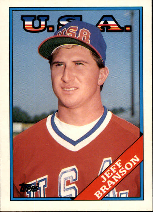 1988 Topps Traded #19T Jeff Branson XRC OLY