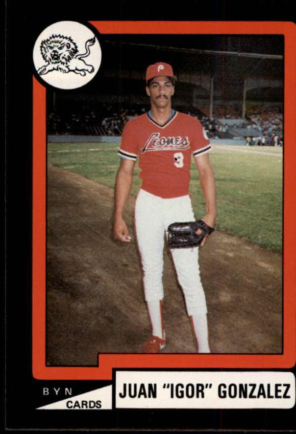 1988-89 BYN Puerto Rico Winter League #105 Juan Gonzalez