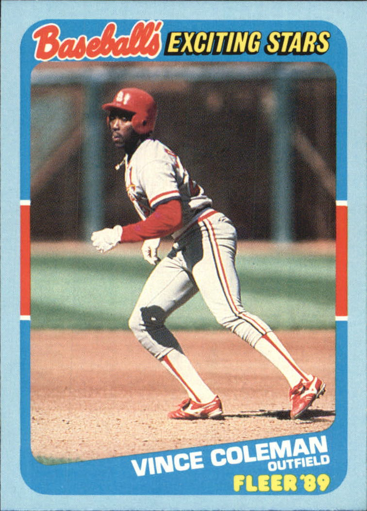 1989 Fleer Exciting Stars #7 Vince Coleman
