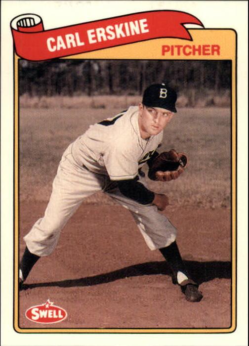 1989 Swell Baseball Greats #44 Carl Erskine