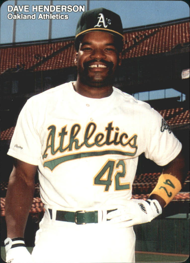 1989 A's Mother's #13 Dave Henderson