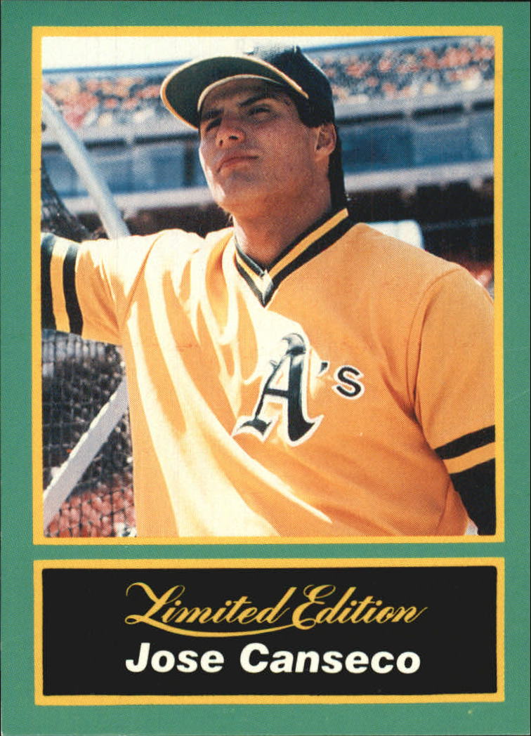 1989 CMC Canseco #1 Jose Canseco/Looking up with/yellow jersey