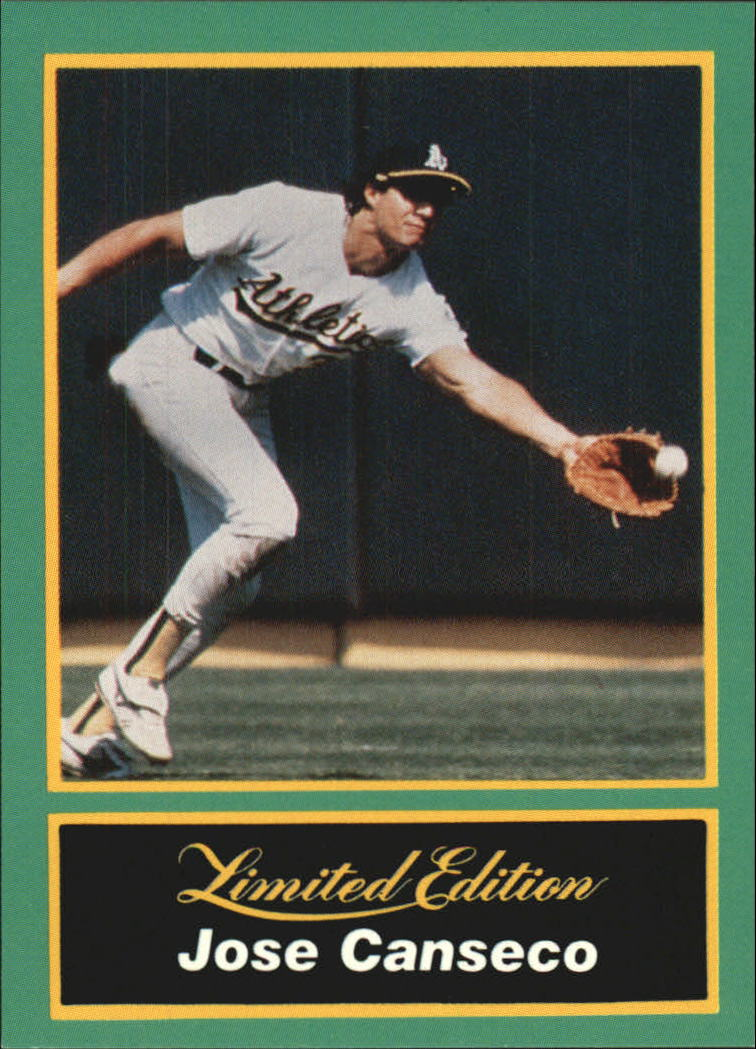 1989 CMC Canseco #14 Jose Canseco/Stretching to catch/fly ball