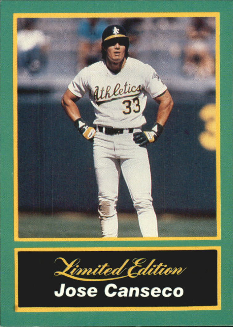 1989 CMC Canseco #19 Jose Canseco/Waiting at first base/with hands on