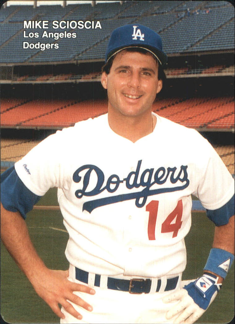 1989 Dodgers Mother s Baseball Card  3 Mike Scioscia  1e2a9ce3619