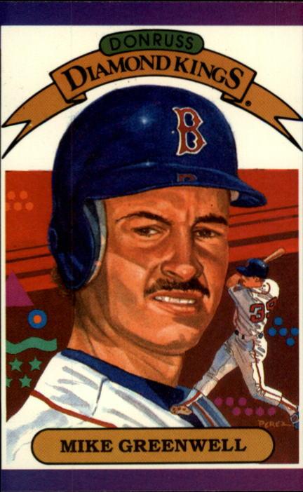1989 Donruss #1 Mike Greenwell DK