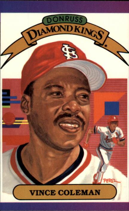 1989 Donruss #19 Vince Coleman DK DP