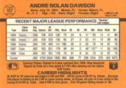 1989 Donruss #167 Andre Dawson back image