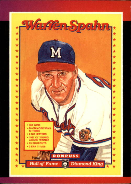 1989 Donruss #588 Warren Spahn Puzzle DP