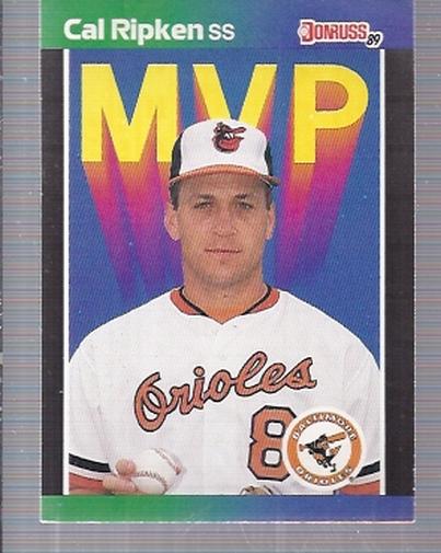 1989 Donruss Bonus MVP's #BC15 Cal Ripken