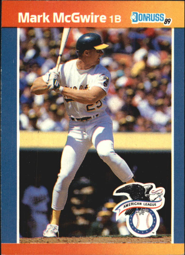 1989 Donruss All Stars 1 Mark Mcgwire Nm Mt Baseball Card