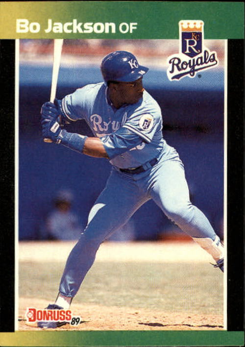 Details About 1989 Donruss Baseballs Best Baseball Card 169 Bo Jackson Royals