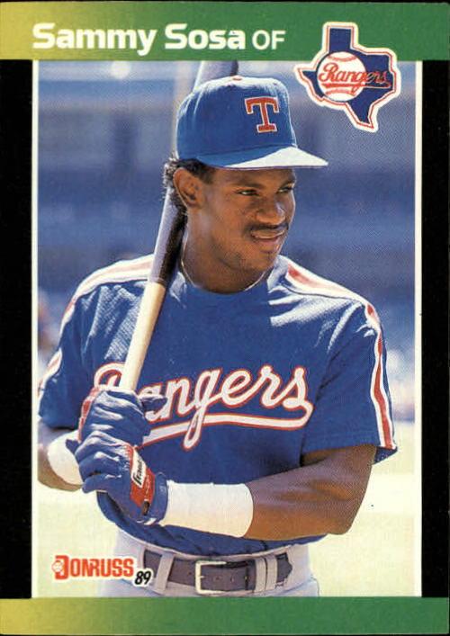 1989 Donruss Baseball's Best #324 Sammy Sosa