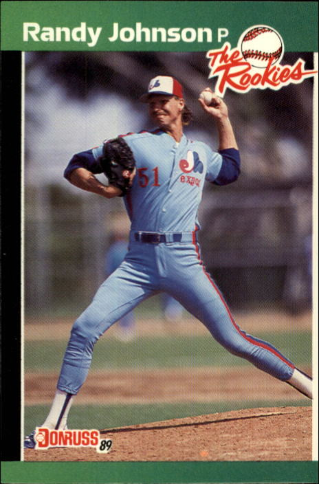1989 Donruss Rookies #43 Randy Johnson UER/Card says born in 1964/he was born in 1963