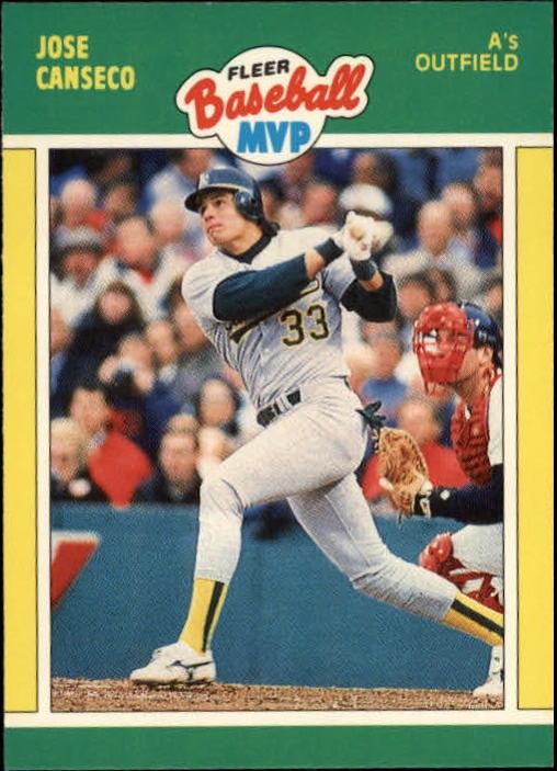 1989 Fleer Baseball MVP's #6 Jose Canseco