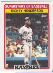 1989 Kay-Bee #18 Rickey Henderson