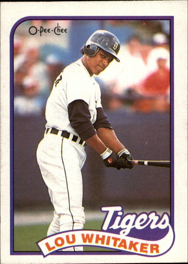 1989 O-Pee-Chee #320 Lou Whitaker