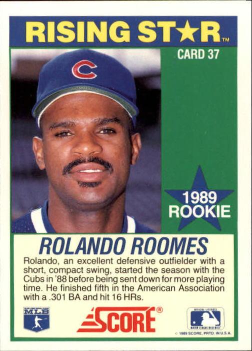 1989 Score Hottest 100 Rookies #37 Rolando Roomes back image