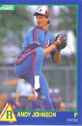 1989 Score Hottest 100 Rookies #63 Randy Johnson